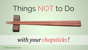 Japanese Chopsticks Etiquette things not to do with chopsticks