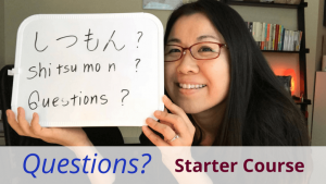 Basic Japanese questions Starter Course