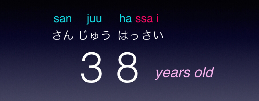 age in Japanese